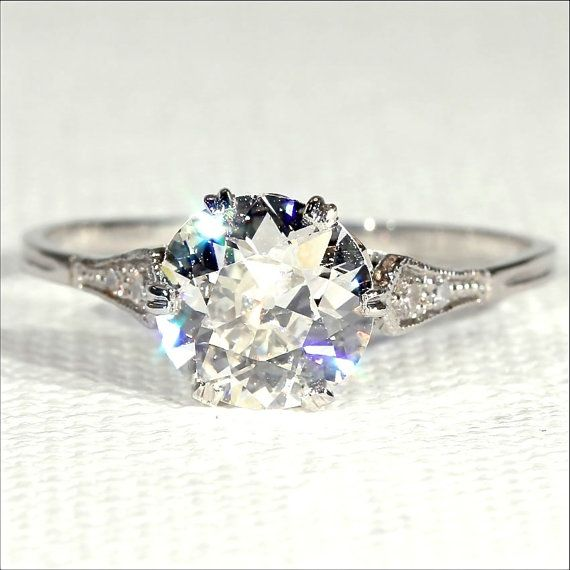Are you looking for the perfect diamond solitaire engagement for the perfect lady? Lucky you, you just found it!  Old cut diamonds can be