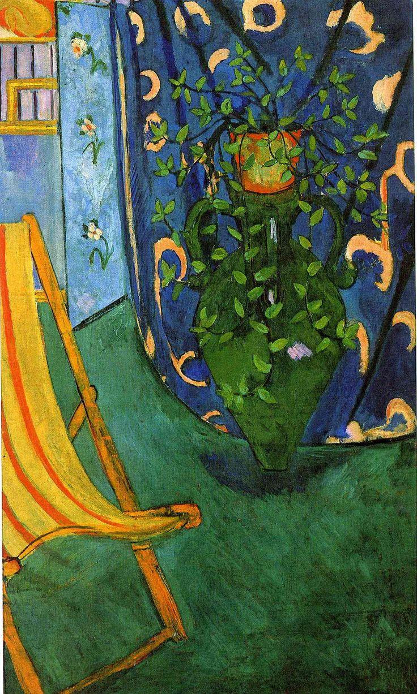 "artist-matisse: ""Corner of the Artist's Studio via Henri Matisse Size: 191.5x114 cm Medium: oil on canvas"""