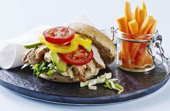 Mexi sandwich med skinkeschnitzel