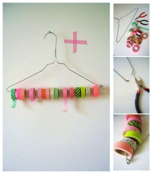 Simple DIY Tape And Ribbon Organizer With A Cloth Hanger | DIY Tag