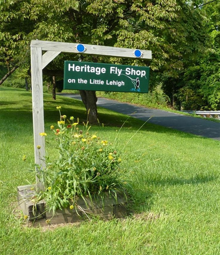 Heritage Fly Shop on the Little Lehigh - Trout's Eye View