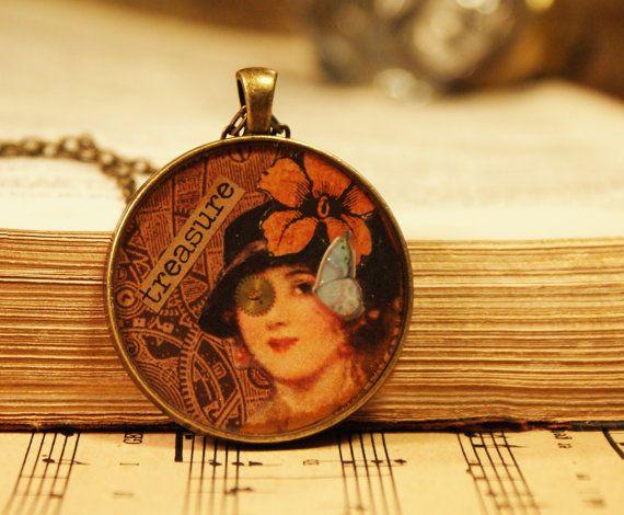 19 best looking glass pendant images on pinterest etsy glass looking glass inspirational pendants by trinketgypsy on etsy aloadofball Gallery