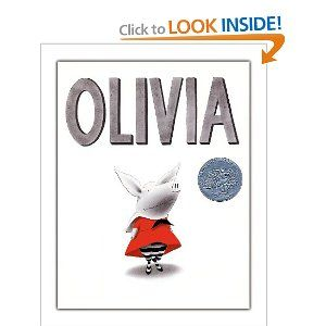 Baby Bookworm is currently obsessed with Ian Falconer's Olivia. She especially enjoys when Olivia gets a bit sunburned.
