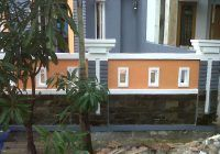 model pagar rumah minimalis varian batu alam