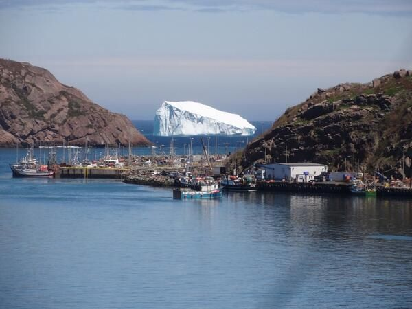 Iceberg passing by St. John's, NL on June 13th, 2014. Photo by Christine Greene