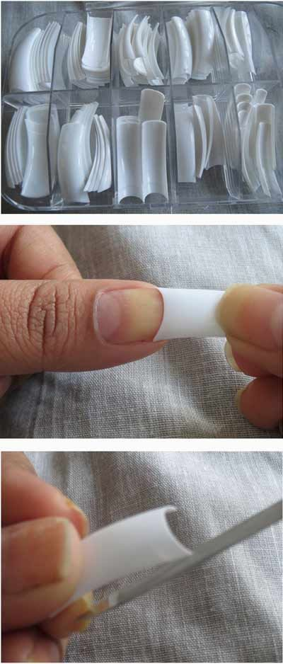 Tips Without Gel Or Acrylic. Just Apply, Buff And Paint