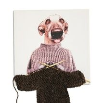 Dogs can knit :-)