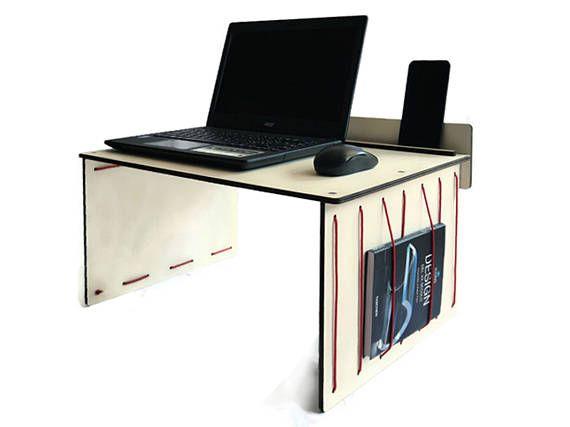 Laser cut wood laptop deskbed deskwood tablet standlaptop