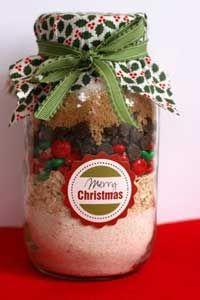 m&m cookie in a jar recipe