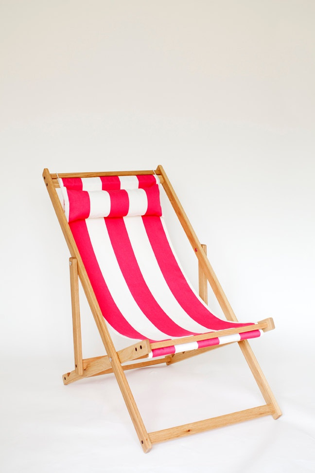 Malibu Deck Chair by gallantandjones on Etsy. $325.00, via Etsy.Deckchair, Summer Day, Outdoor Furniture, Chairs Fabrics, Drinks Tables, Lakes Cabin, Hot Pink, Folding Chairs, Decks Chairs