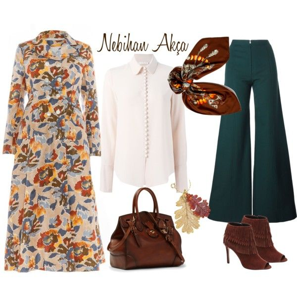 A fashion look from September 2015 featuring Chloé blouses, Emanuel Ungaro pants and VC Signature ankle booties. Browse and shop related looks.