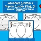 This is a Venn Diagram that compares Abraham Lincoln to Martin Luther King, Jr.   This would be good to use during January around MLK Day. It can a...