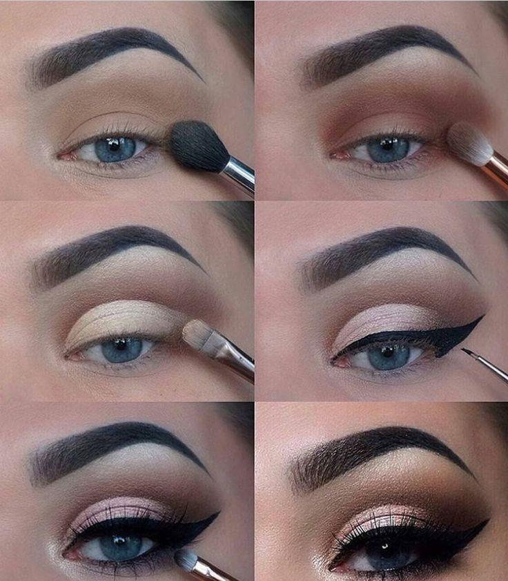 60 Easy Eye Makeup Tutorial For Beginners Step By Step Ideas(Eyebrow& Eyeshadow)…
