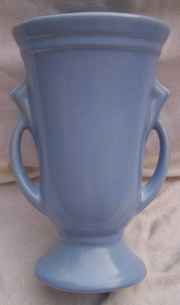 546 best mccoypotteryvases images on pinterest antique haeger pottery vase two handled art deco shawnee large blue almost periwinkle reviewsmspy