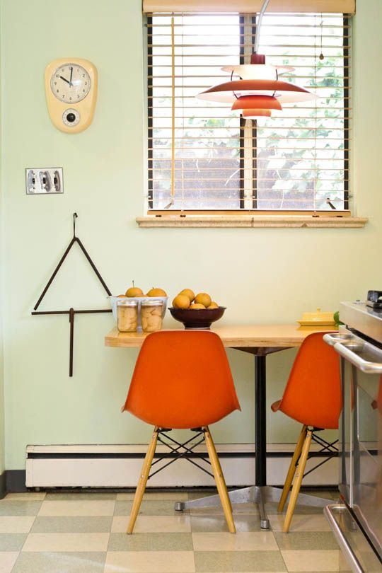 High Quality Aaron U0026 Wendyu0027s Mid Century In Mayfair U2014 House Tour. Kitchen Color Schemes Kitchen ColorsOrange ChairsRed ...