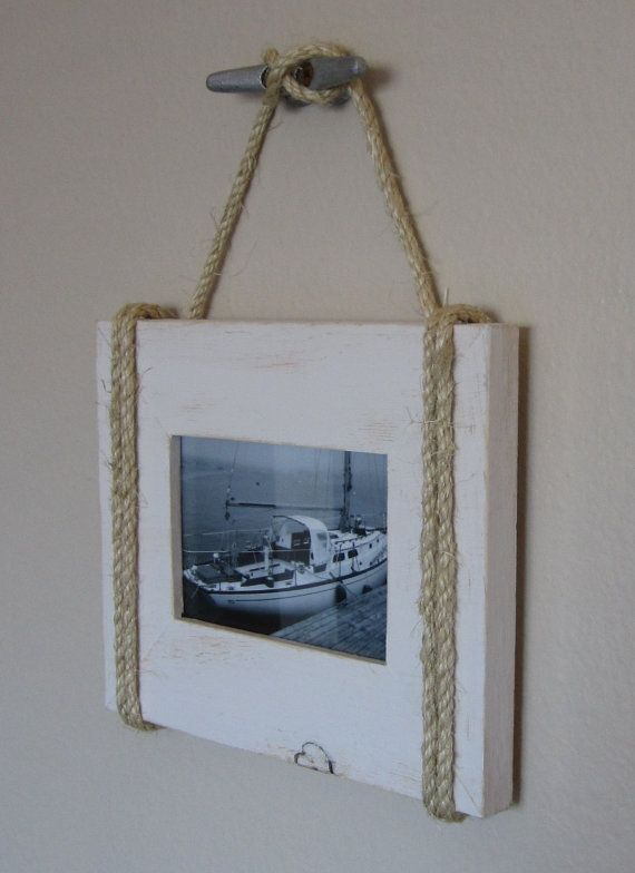 Shabby Chic Nautical Beach cottage 4X6 Rope by BeachCityCreations