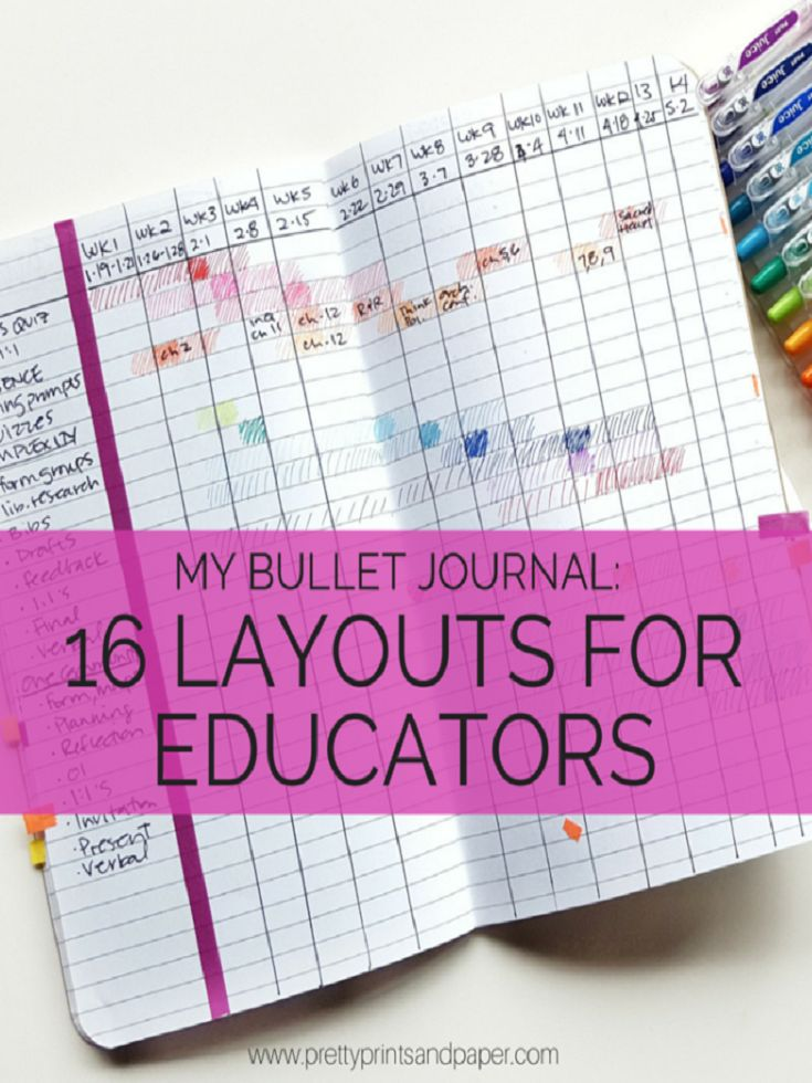 16 Bullet Journal Layouts for Educators