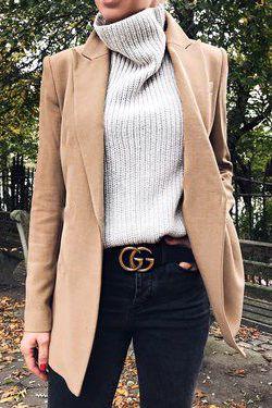 Fashion Winter Plain Woolen Loose Long Coat