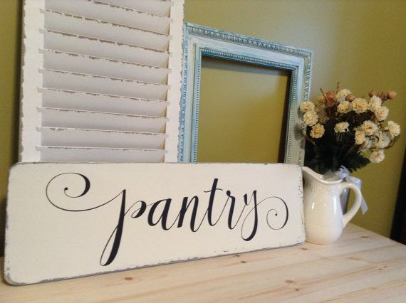 Wood Pantry Sign Pantry Sign Pantry Sign Wood by RomanValleyFarm