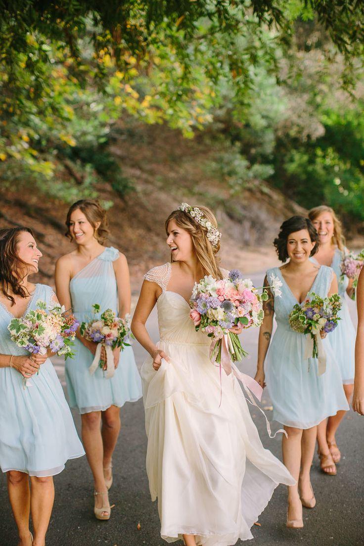 Light blue bridesmaids dresses... Photography: Danielle Capito Photography - daniellecapitophotography.com