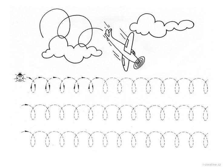 grafomotorický list letadlo