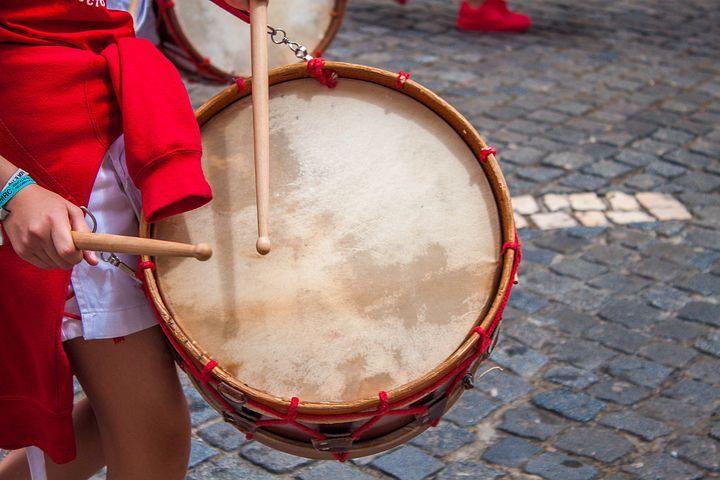 Música, Bombos, Rojo, Madera