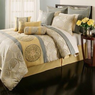 kyley yellowgray 20 piece bedding from kohls