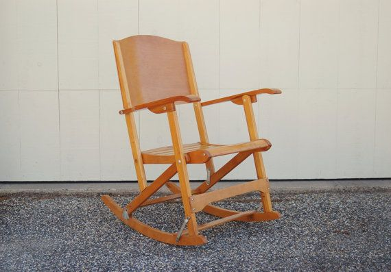 Folding Rocking Chair Clement Canada Maple Rocking Chair
