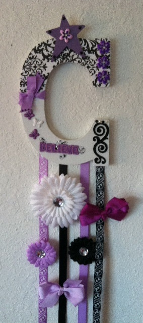 Personalized Custom Bow Holders for your little girls flowers and bows :)