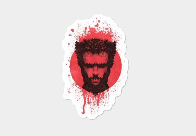 Logan Sticker by Fimbis         Logan, Wolverine, geometric, art, x men, fashion, comic book hero, portrait, hugh jackman,