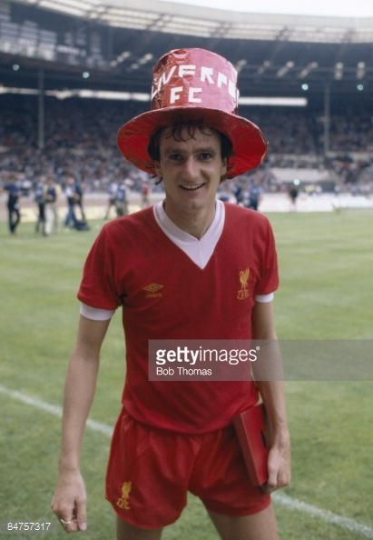 Liverpool's Phil Thompson wearing a supporters hat during the lap of honour after their 10 victory over West Ham United in the FA Charity Shield match at Wembley Stadium August 9th 1980