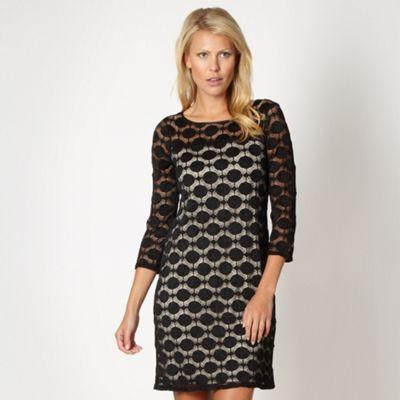 Principles Petite by Ben de Lisi Petite designer black spotted lace tunic dress- at Debenhams.ie