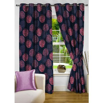Fflaunt Grace Blue Eyelet Curtain