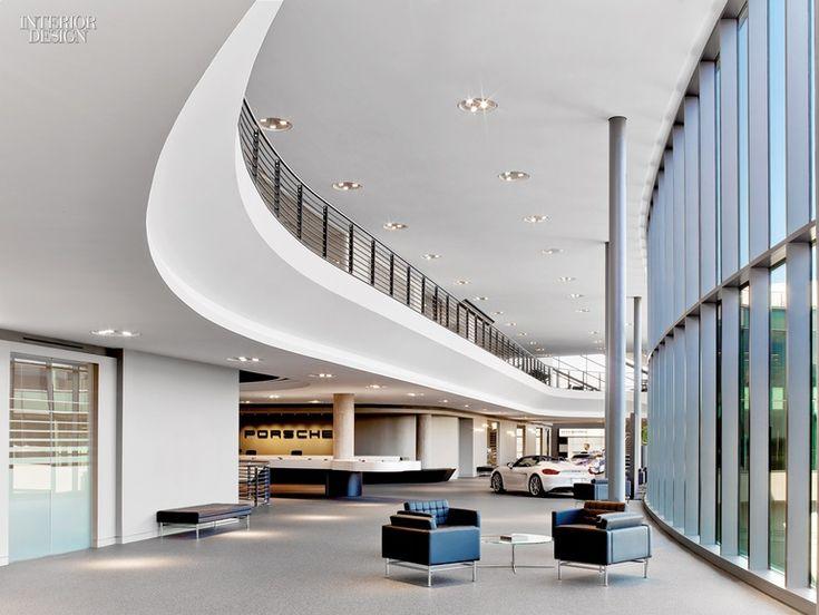 Sculpture In Motion: Porsche Experience Center By HOK. Lobby DesignPorsche Interior ...
