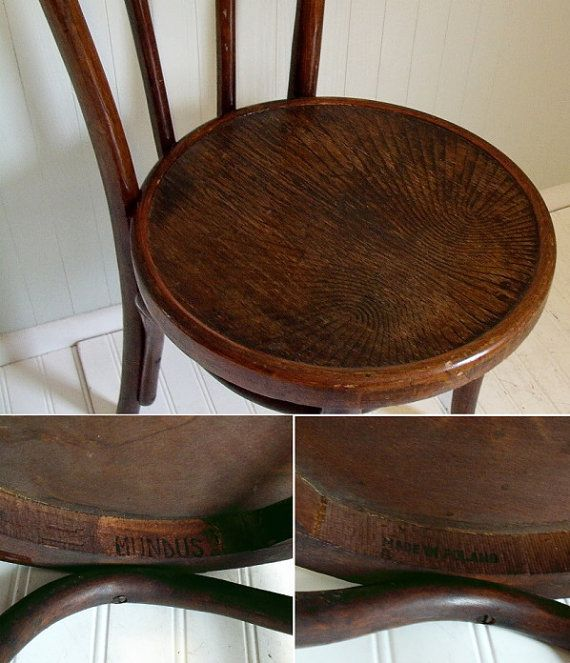 Original Mundus Bentwood Cafe Chair Made In Poland