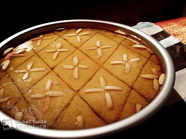 Sweet Semolina Cake with Lemon & Rosewater | Basboosa | Recipe | Syrup ...