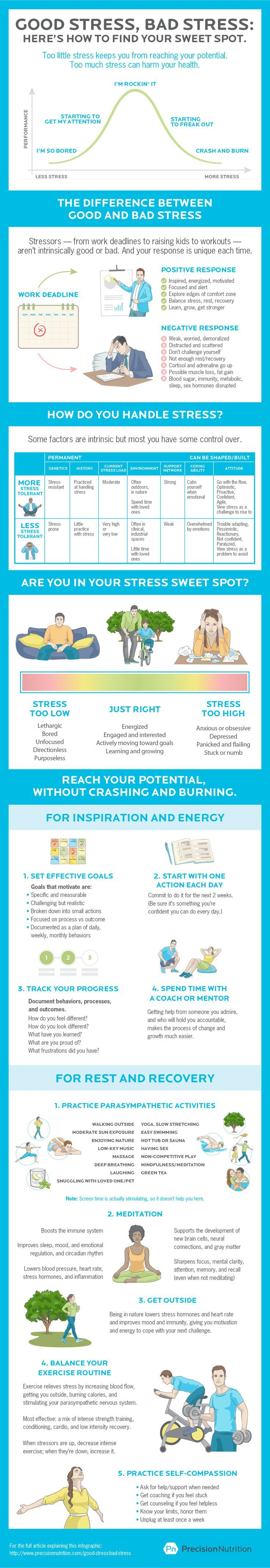 Good stress, bad stress. [Infographic] Here's how to find your stress sweet spot.
