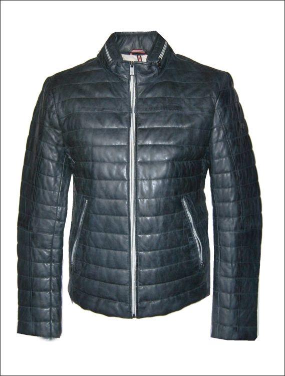 Ανδρικό δερμάτινο μπουφάν  Μοντέλο: Tereno Δέρμα: nappa blue Τιμή: 340€