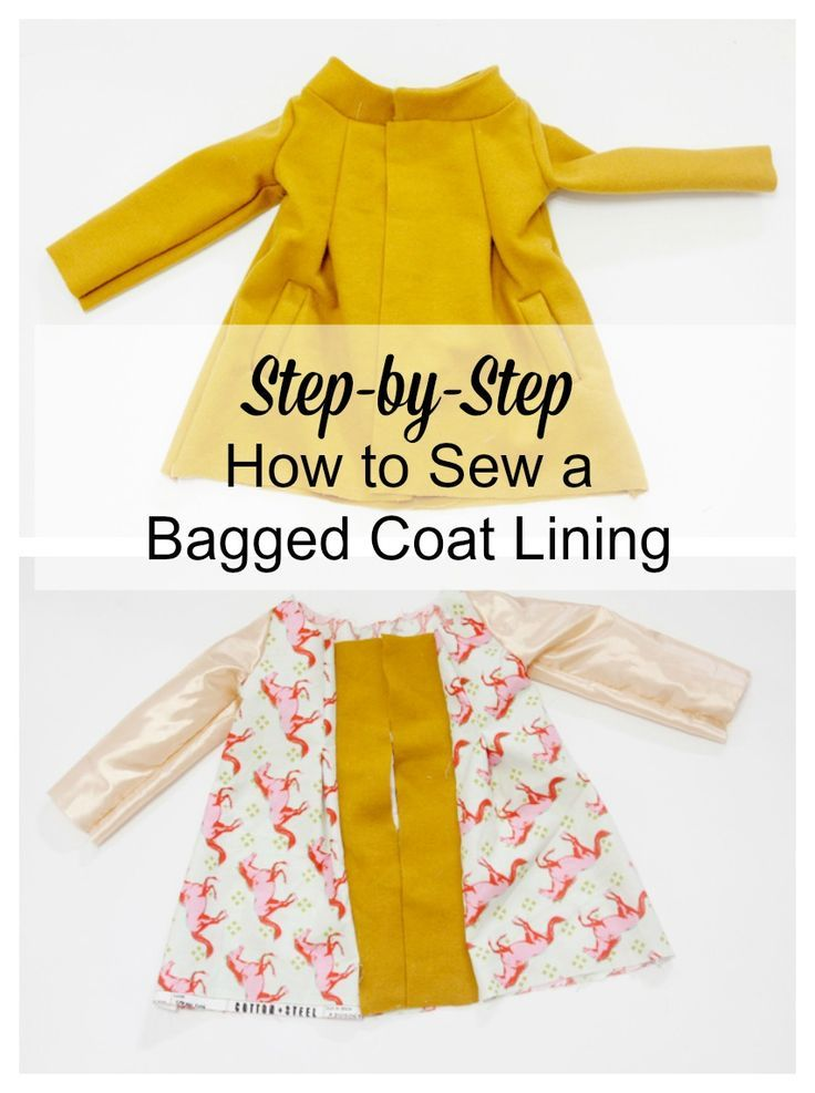 Sew a Bagged Coat Lining // See Kate Sew