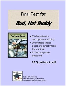 bud not buddy multiple choice test