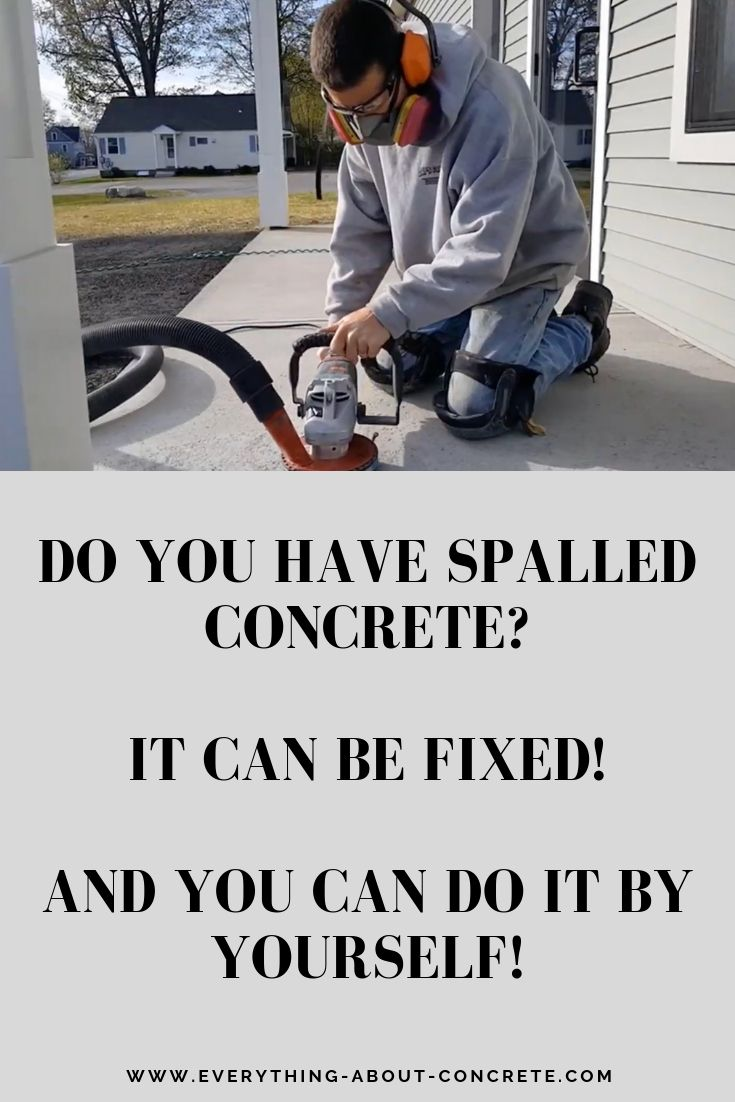 I'm showing you how to resurface a spalled concrete patio  I