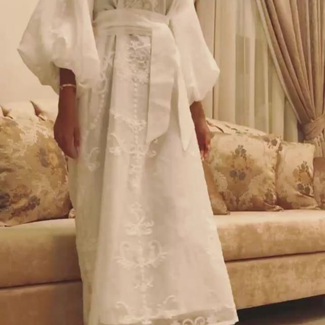 Available فكرة ينلبس حق استقبال الولادة Hijabi Outfits Dresses White Dress