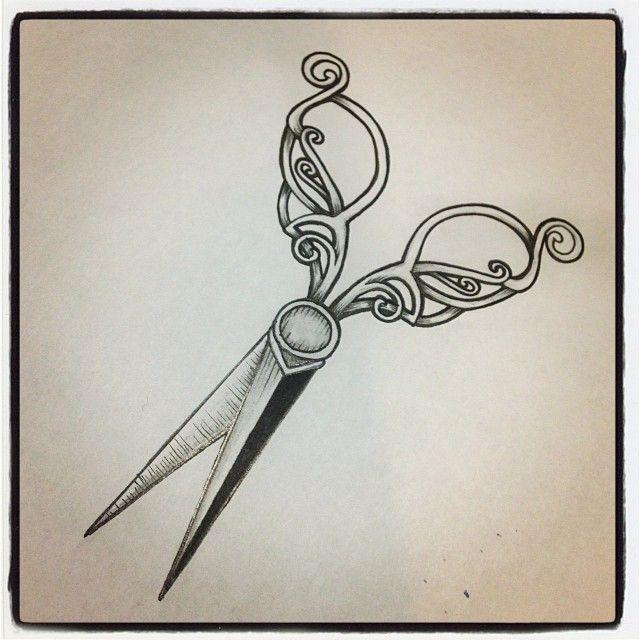 vintage shears tattoo #vintage