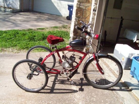 Schwinn Point Beach With Trike Conversion And Flying Horse Motor  Motorized