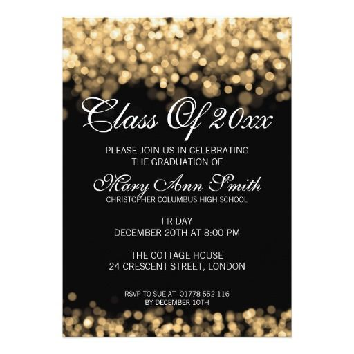 124 best elegant graduation invitations images on Pinterest Grad - graduation announcement template