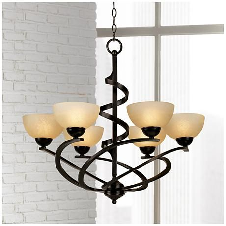 Franklin iron works 27 1 2w dark mocha ribbon chandelier style 48298