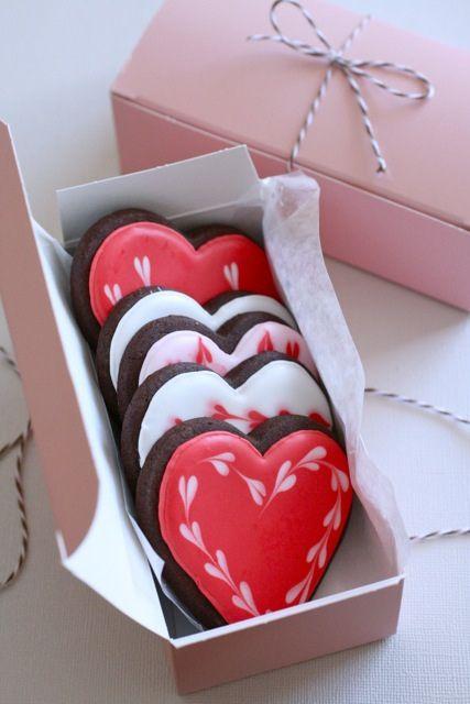heart cookies / biscuits en coeurs