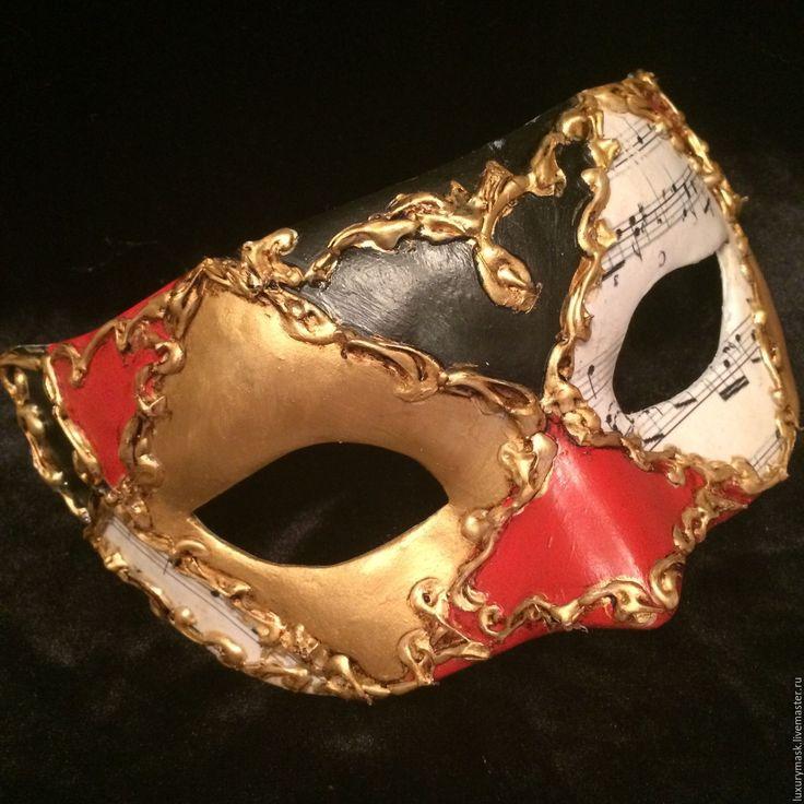 """Купить Карнавальная маска """" Music"""" - комбинированный, маска, карнавальная маска, Новый Год, маскарад"""