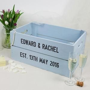 Personalised Wedding Crate - The best wedding presents are always the ones that come from the heart, so capture the best qualities of the happy couple in your gift. Thoughtful and personalised presents for the newlyweds.
