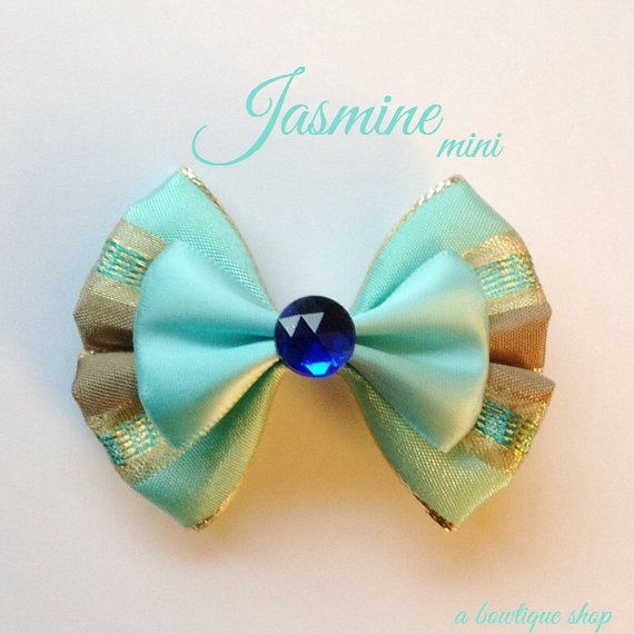 jasmine mini hair bow by abowtiqueshop on Etsy